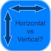 horizontal o vertical