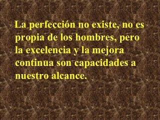 La perfección no existe
